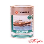 Тиккурила Уника Супер /Tikkurila Unica Super лак алкид полиуретан, водо ст п-м. п-г.гл  0.9 л  Арт. 400019